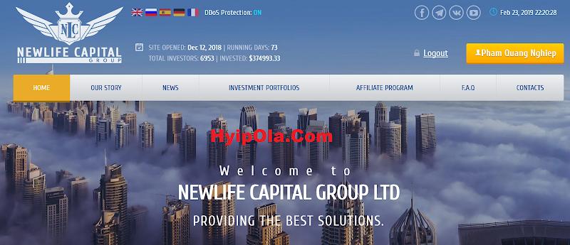 [SCAM] Review Newlife-Capital.com - Đầu tư vào công ty tuỳ chọn nhị phân - Lãi up 5% hằng ngày
