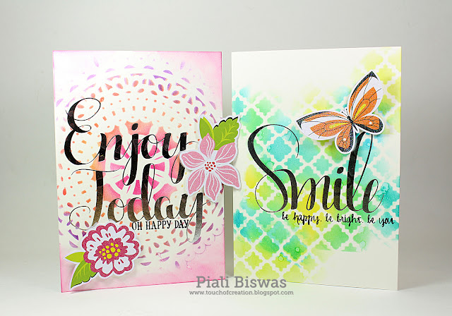Foils, watercolors, and stamps...