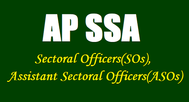 AP SSA Results/ Merit list of Sectoral / Assistant Sectoral Officers 2017