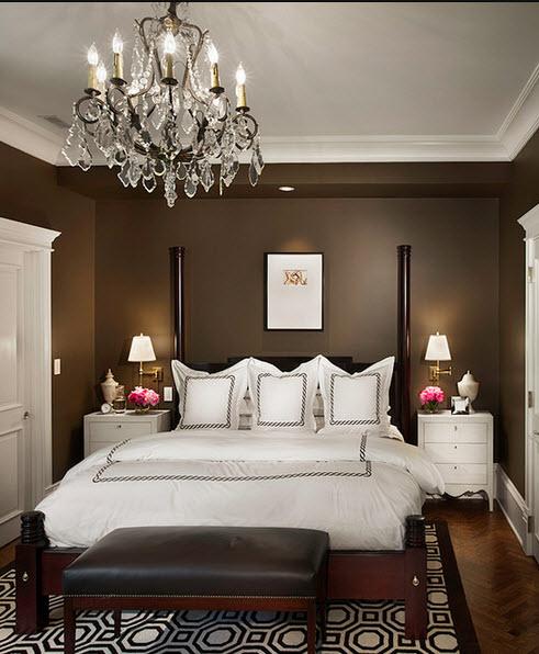 diseo de dormitorio matrimonial elegante