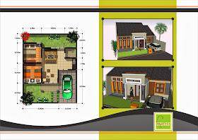 Desain Denah Rumah Minimalis Tipe 45 Terbaru
