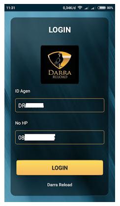 Cara Login Darra Reload Dan Cara Daftarin Nomor Hp Untuk Mendapatkan ID Agen Pulsa