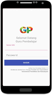 login guru pembelajar online mobile via android dan iphone