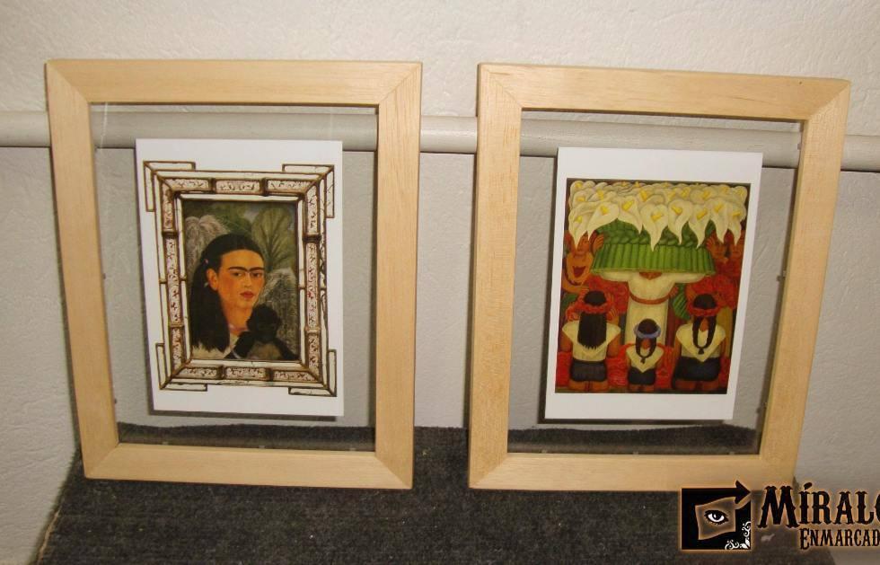 Enmarcado de postales doble vidrio y marco chato for Enmarcar cuadros leroy merlin