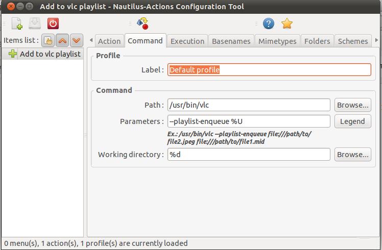 Vlc : Add to playlist option in context menu [ubuntu]