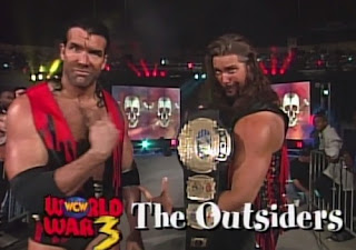 WCW WORLD WAR 3 1996 - The Outsiders defended the WCW tag titles against Nasty Boys and Faces of Fear