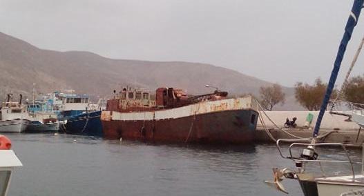 Φορτηγό πλοίο βυθίστηκε στην Κάλυμνο