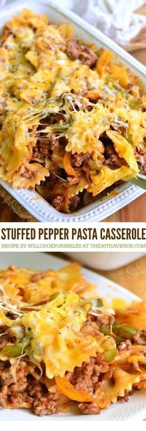 Stuffed Bell Pepper Pasta Casserole