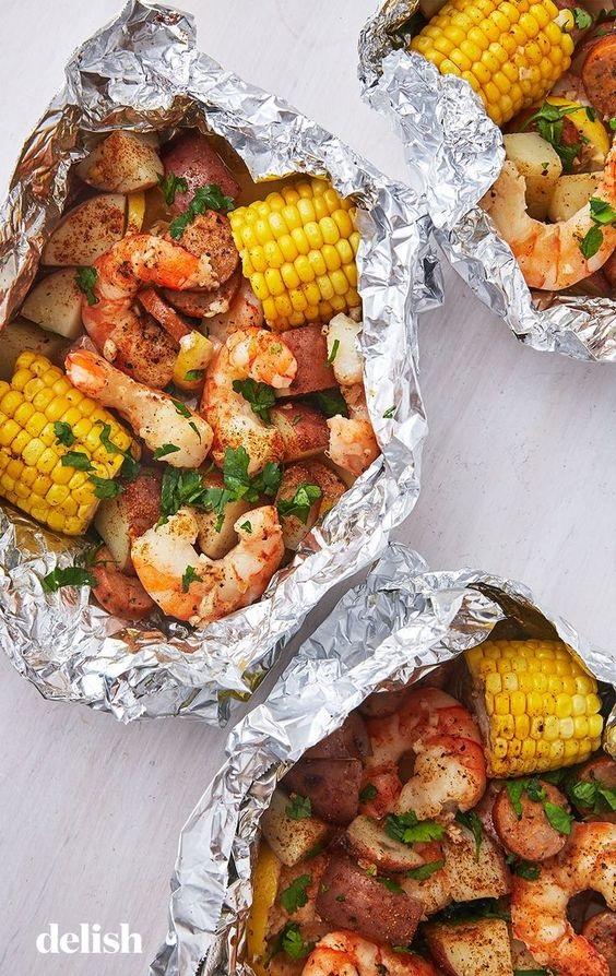 Grilled Shrimp Foil Packets