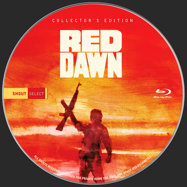 Red Dawn Bluray Label