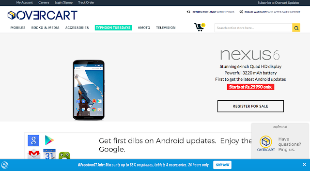 Unboxed and refurbished versions of Google Nexus 6 go on sale on Overcart.com starting at Rs. 25990