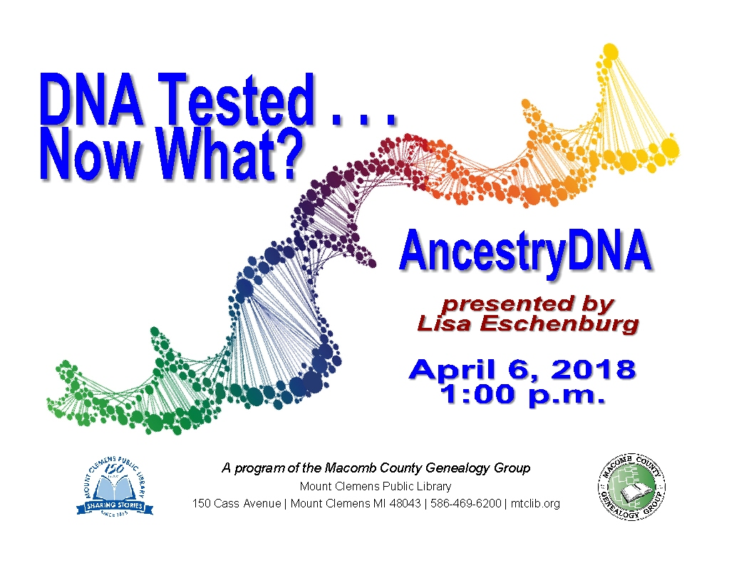 Mcgg And Let S Talk Nealogy Mcgg Friday Meeting Topic This Week Is Dna Tested W What