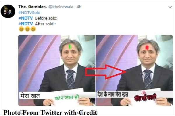 NDTV बिका तो ट्विटर पर लोग लेने लगे मजा, अब रवीश कुमार भी बोलेंगे 'मंदिर वहीं बनाएँगे'