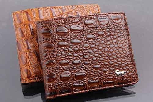 48k - Bóp da cá sấu nhiều ngăn xịn - da thật đốt không cháy giá sỉ và lẻ rẻ nhất