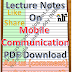 Lecture Notes on Mobile Communication PDF Download