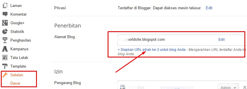 How to Connect a Blogspot to Domain Freenom ( com,  net, ga