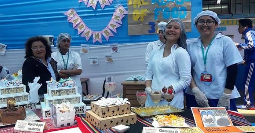 UGEL 02: Colegios Nuestra Sra. de Lourdes realizó feria gastronómica como proyecto nutricional
