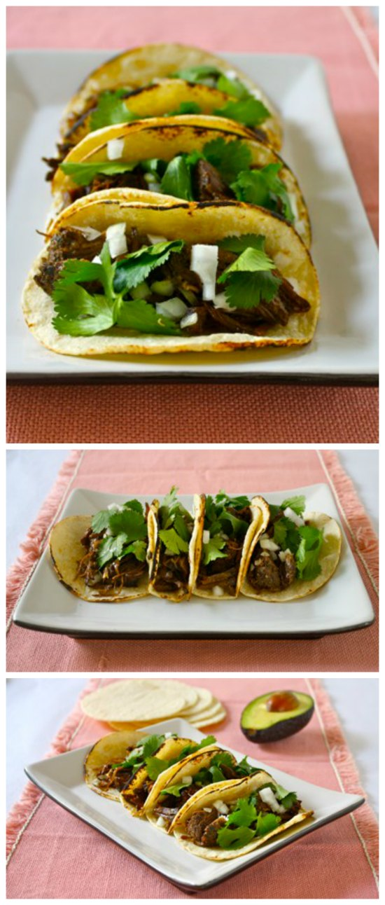 Slow Cooker Spicy Short Rib Tacos from Black Girl Chef's Whites featured on SlowCookerFromScratch.com