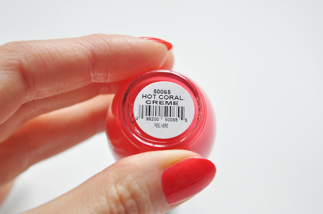 orly hot coral creme