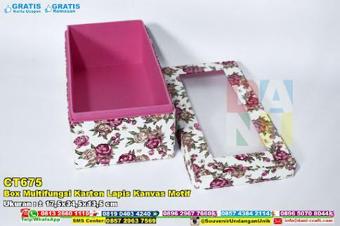 Box Multifungsi Karton Lapis Kanvas Motif