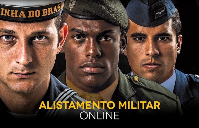 Alistamento Militar também é Online.