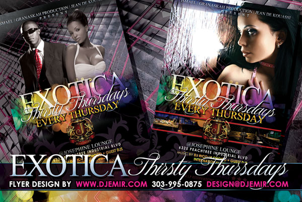 Exotica Flyer Design Atlanta Georgia