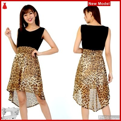 FHGS9054 Model Dress Venezia Brown, Perempuan AK Pakaian Dress BMG