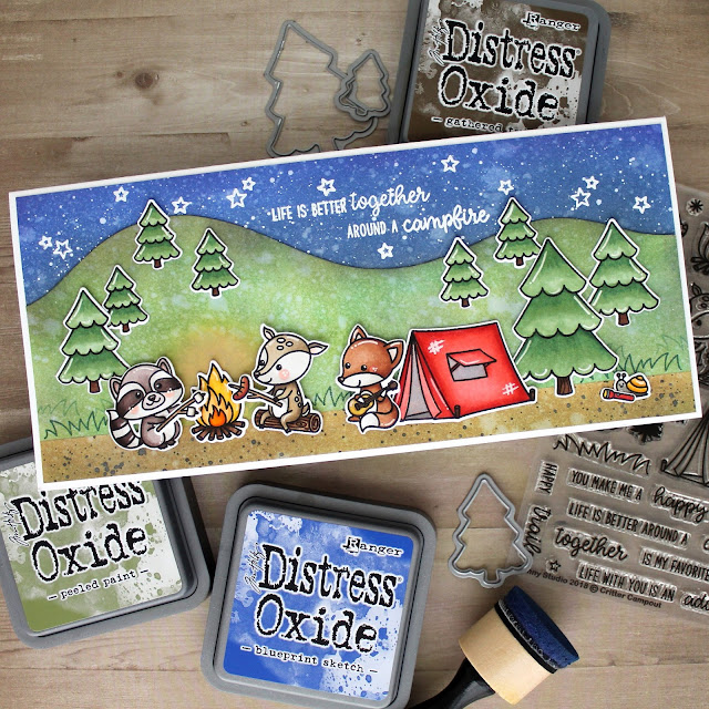 Sunny Studio Stamps: Beach Babies Summer Fast Food Fun Punny Critter Campout Cards by Leanne West