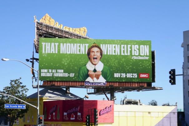 moment when Elf is on billboard