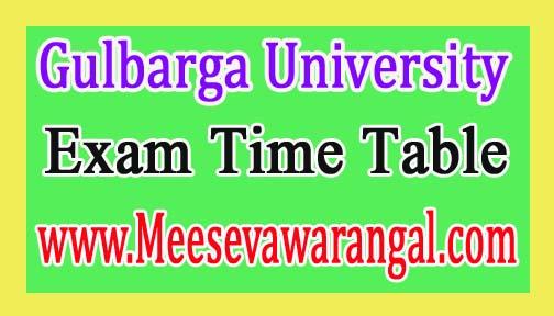 Gulbarga University MBA Ist Sem Jan 2017 Exam Time Table
