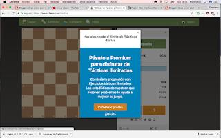 Membresía de chess.com en agosto de 2017