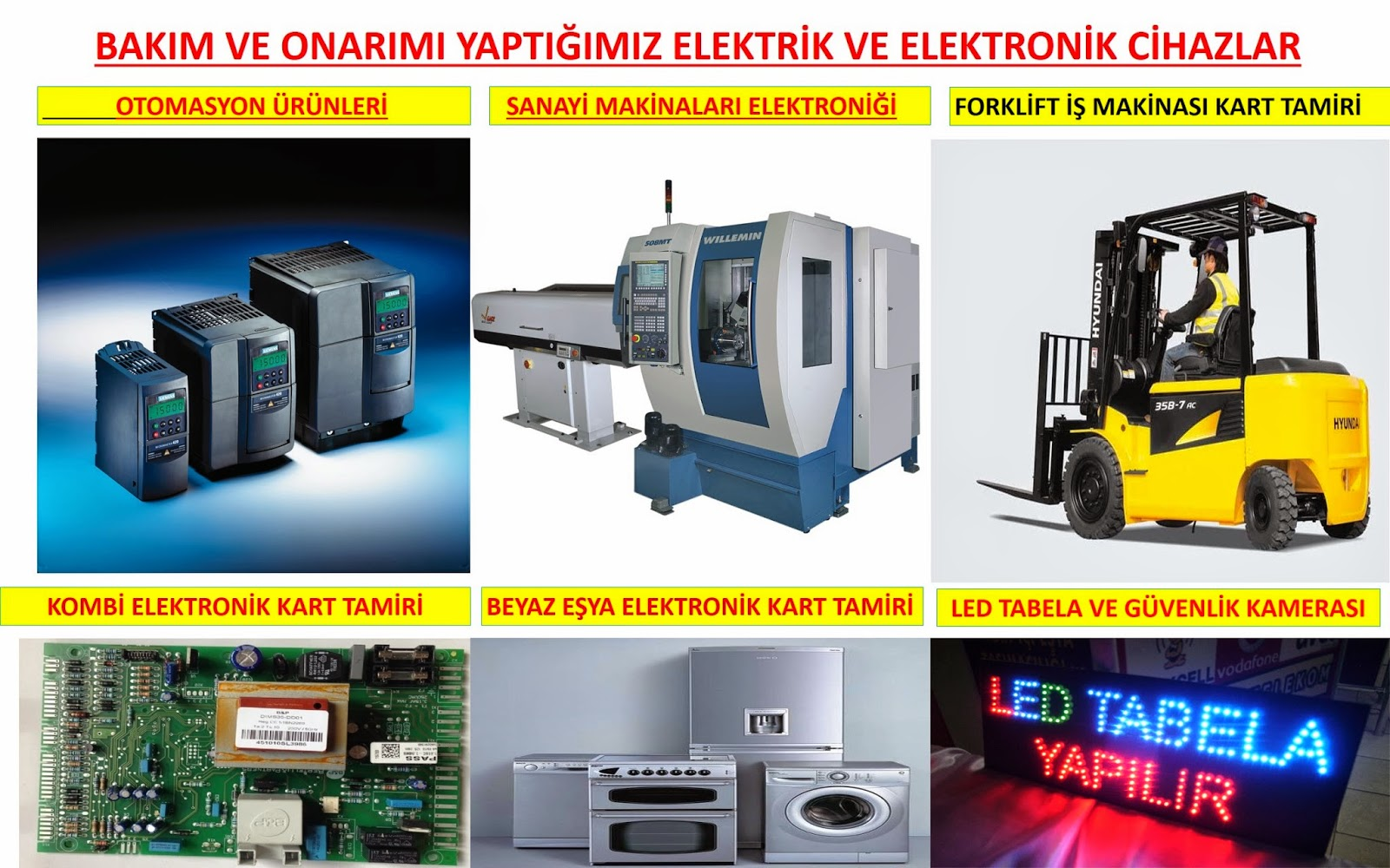 endüstriyel elektronik kart tamiri