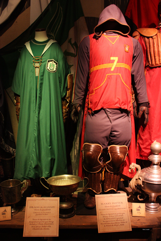 tenues de Quidditch de Harry et Drago exposition Harry Potter