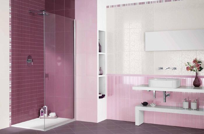 Baños color violeta | Ideas para decorar, diseñar y ...