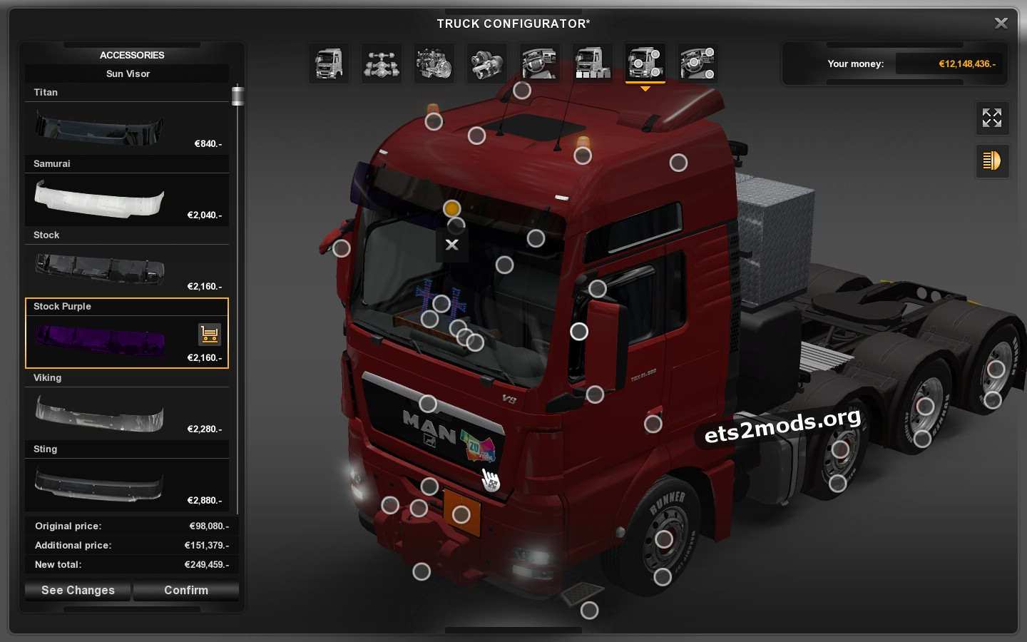 Man Tgx 1 9 By Madster Ets2 Mods