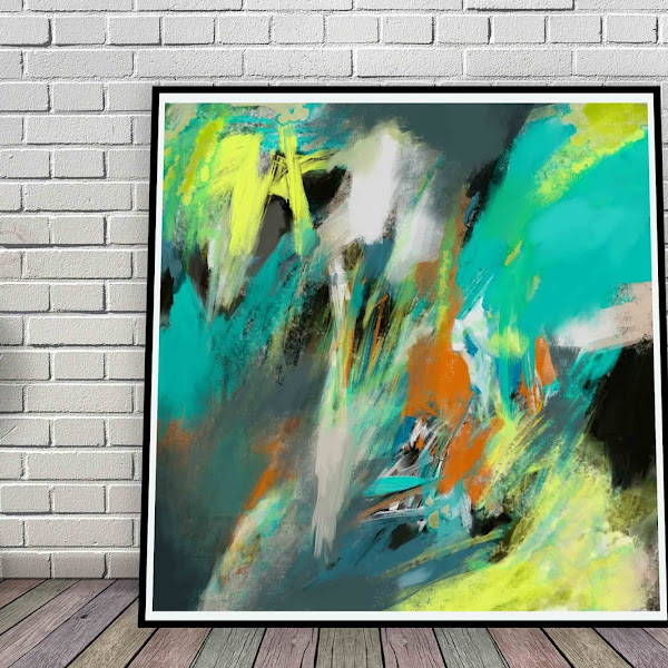 Large Square Digital Download Abstract Painting