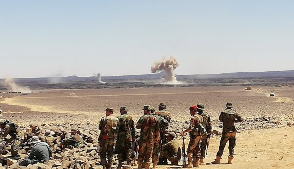 الجيش السوري يستعد لشن هجوم باتجاه المعقل الأخير لتنظيم داعش الإرهابي في منطقة تلول الصفا.فيديو