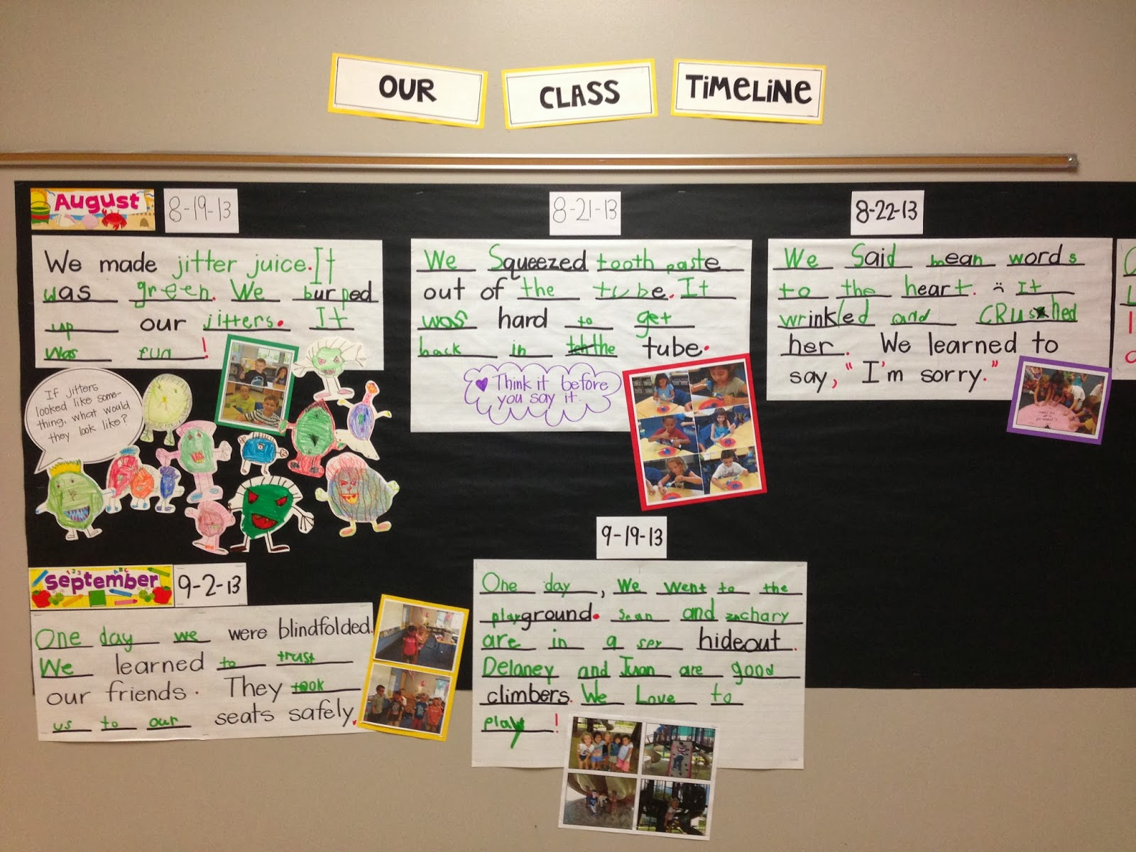 Creating Readers And Writers Our Class Timeline