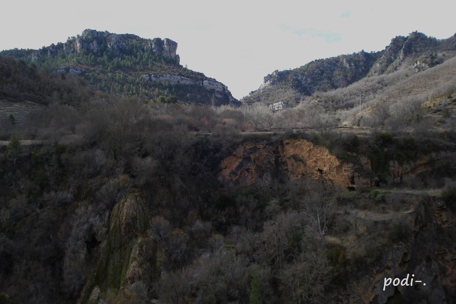Cascada del Campillo en el Alto Tajo
