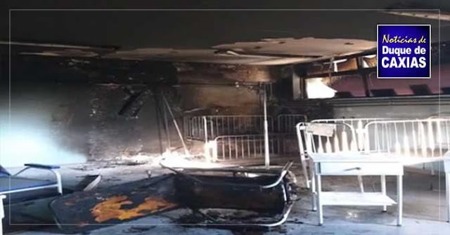 Incêndio destrói quarto em hospital infantil de Duque de Caxias
