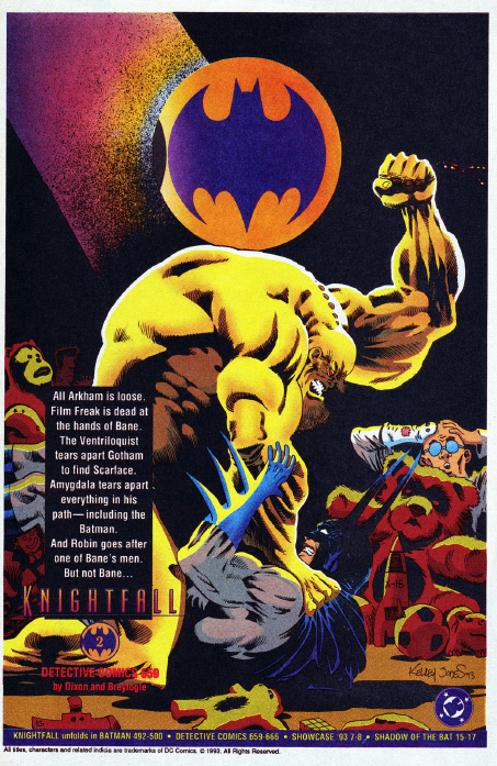 Dc In The 80s A Collection Of Knightfall House Ads 1993