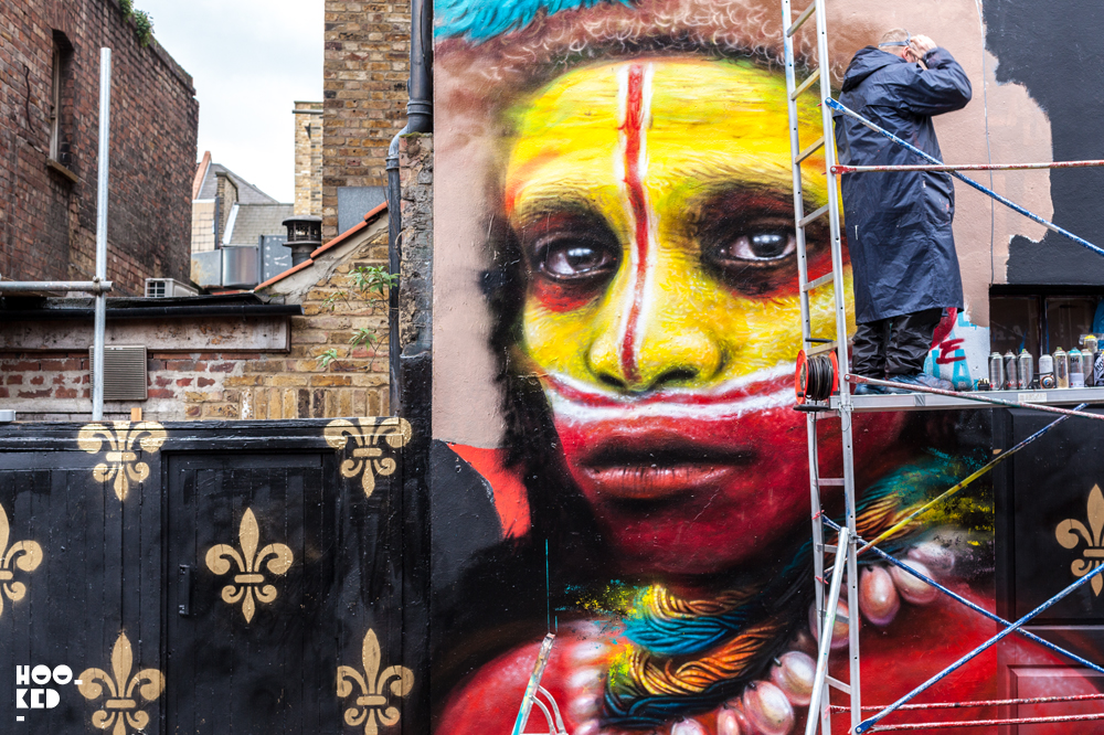 Magnificent Mural on Hanbury Street, London by artist Dale Grimshaw