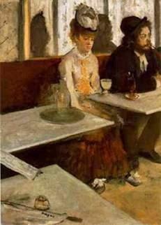 πίνακας με αψέντι - Edgar Degas