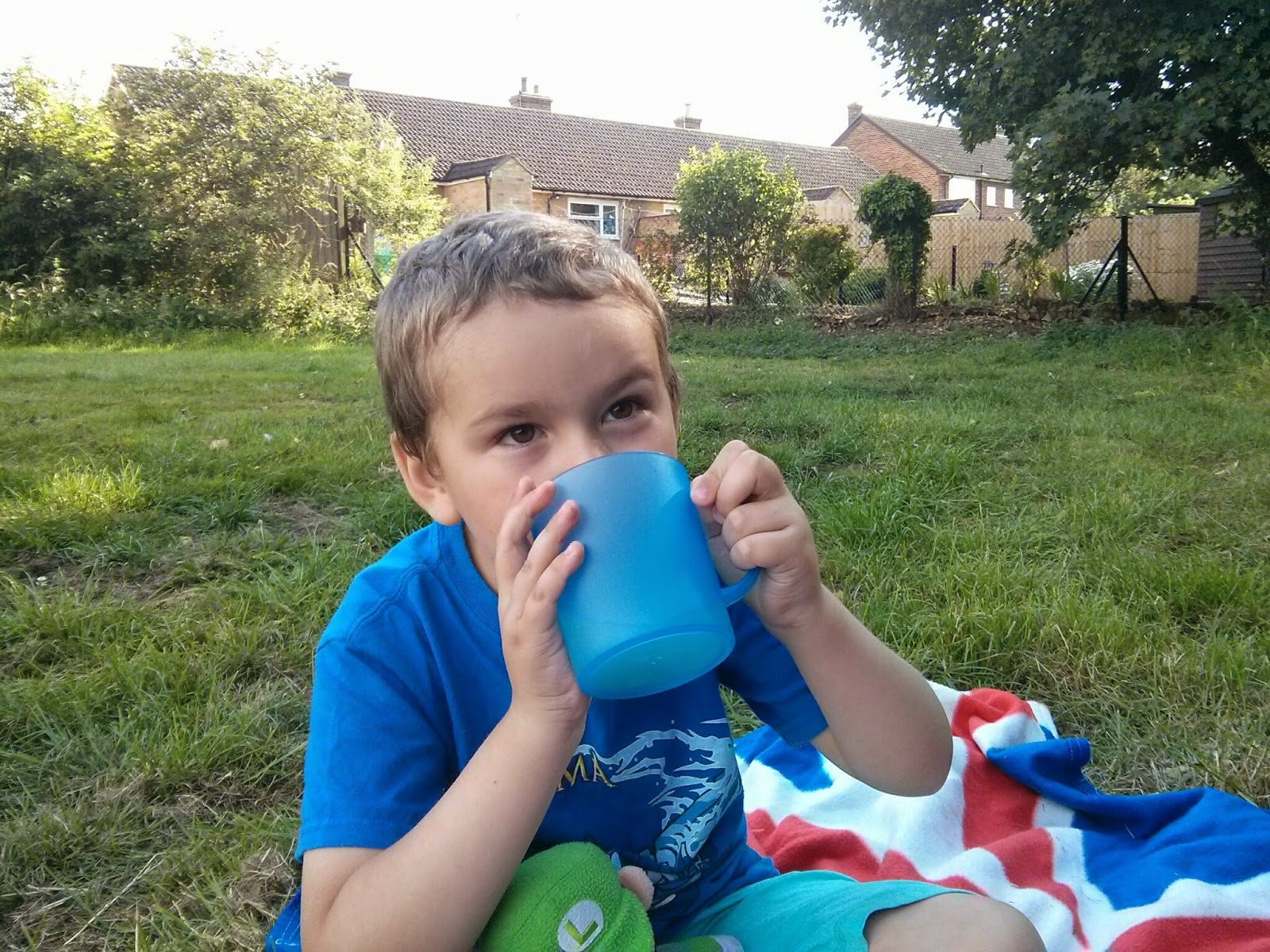 Big Boy drinking still lemonade