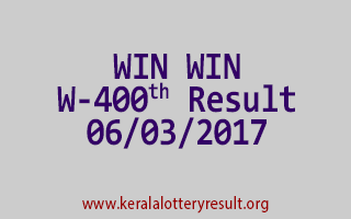 WIN WIN Lottery W 400 Results 6-3-2017