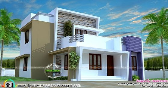 modern house architecture in 1765 sq ft kerala home design and floor