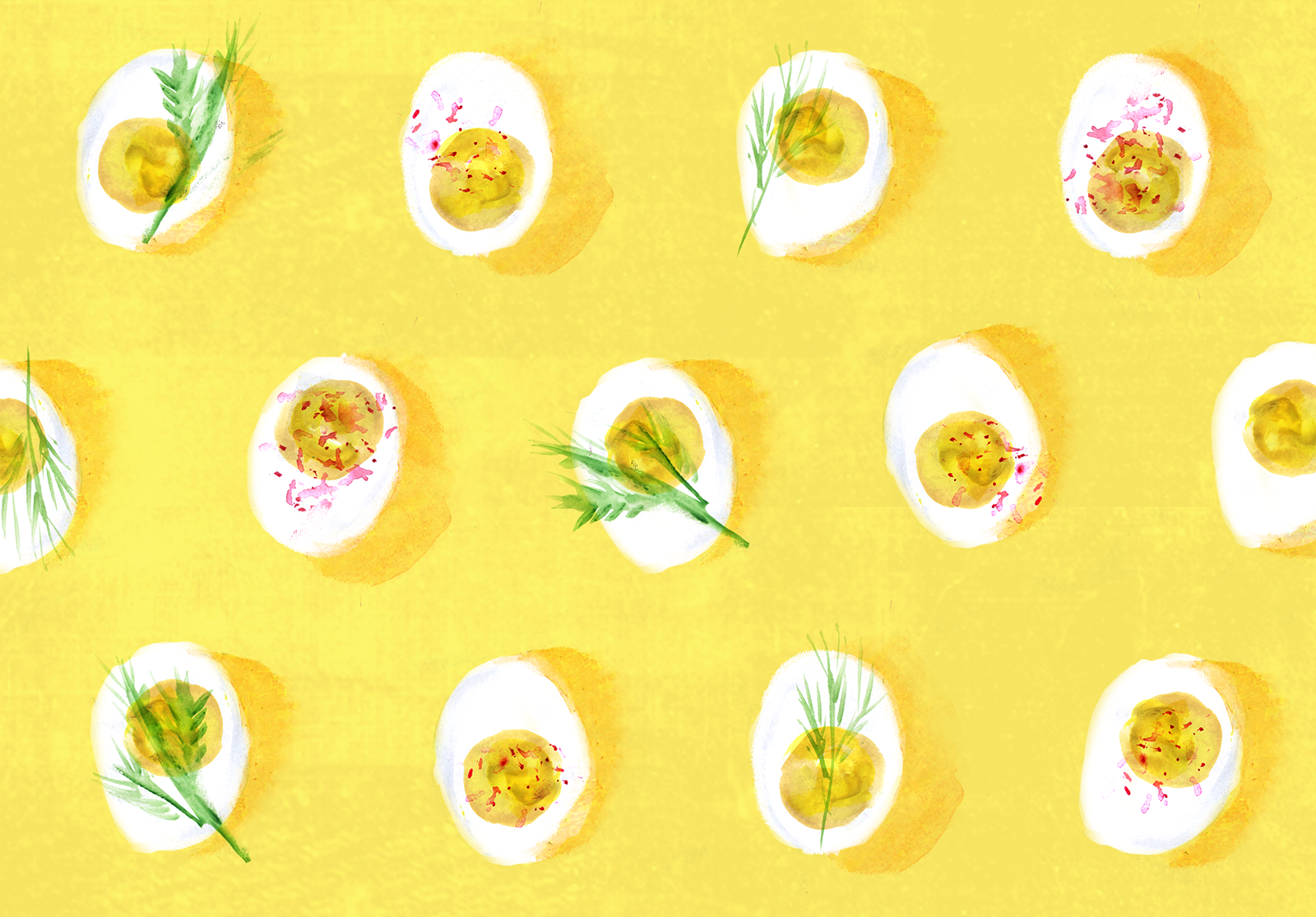 Deviled Eggs, Lauren Monaco Illustration