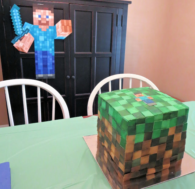 Minecraft Grass Block Cake 2