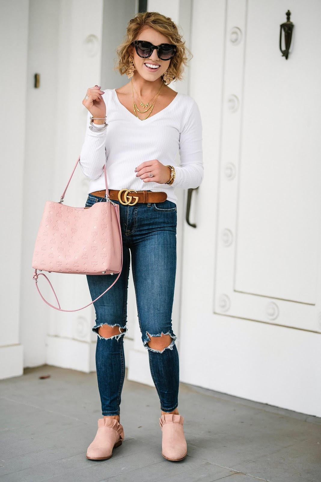Easy Everyday Look + Under $100 Ruffle Booties - Something Delightful Blog @racheltimmerman