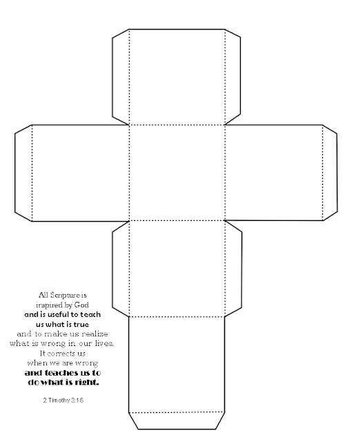2 Timothy 3:16 bible verse cube empty coloring sheet